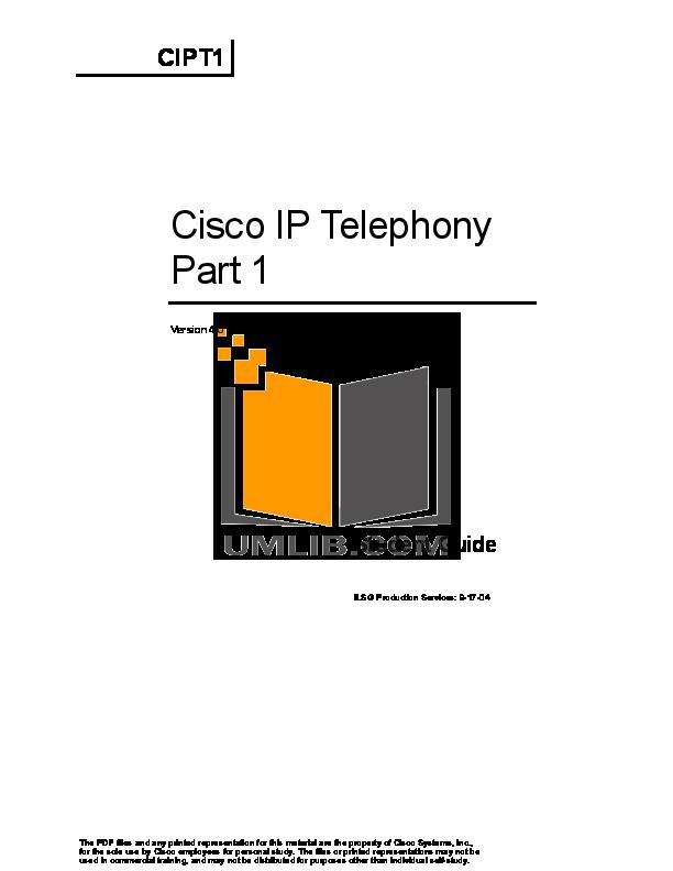 Cisco Cipt1 Pdf